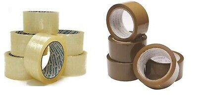 Long Length Extra Strong 50mmx60m Packing Tape Parcel Warehouse Tape Brown/Clear