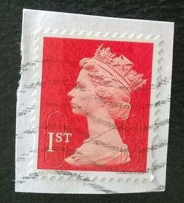 1 x GB USED MACHIN RED 1ST CLASS 2012 SECURITY STAMP - M12L MAIL CODE SG U2997