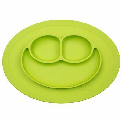 ezpz Mini Mat - One-Piece Silicone placemat + Plate (Lime), One Size -OPEN Box