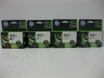 HP 952XL Ink Set New Genuine *** SHIPS OVERBOXED *** Date: All 2021