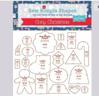 SEW SIMPLE SHAPES COZY CHRISTMAS TEMPLATES, from Lori Holt, *NEW*
