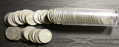 1943 US STEEL Wheat Penny Cents Roll = 50 Coins PDS Mints
