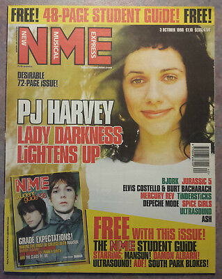 NME New Musical Express Oct 1998 Elvis Costello PJ Harvey Bjork Depeche Mode
