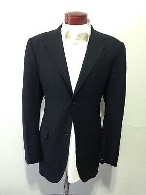 Men's BANANA REPUBLIC Made In Italy Black Suit Jacket Blazer 44R H851