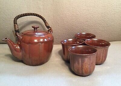 Teavana Teapot Tea Set Brown Iridescent