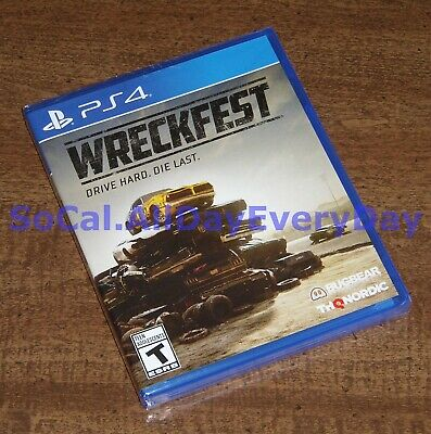 WRECKFEST ~Drive Hard. Die Last.~ (PlayStation 4) BRAND NEW & FACTORY SEALED ps4