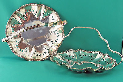 Matching Pair Vintage silver plated Baskets 1950's Coronet
