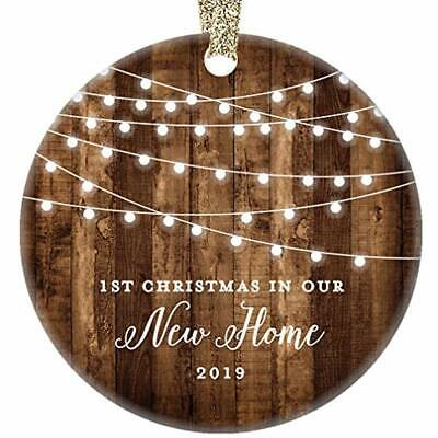 New Home Ornaments 2019 Housewarming 1st Christmas In Our Rustic Farmhouse Real