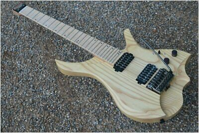7 Strings Headless Electric Guitar  style wood color Flame maple Neck in stock