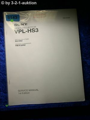Sony Service Manual Vpl HS3 1st Edition Video Projector (#5143)
