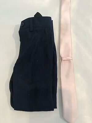 Boys Age 5 Smart Trousers In Navy And Pink Tie From John Lewis Christmas Day