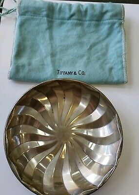 Vintage Tiffany & Co. Sterling Silver Candy Dish With Pouch