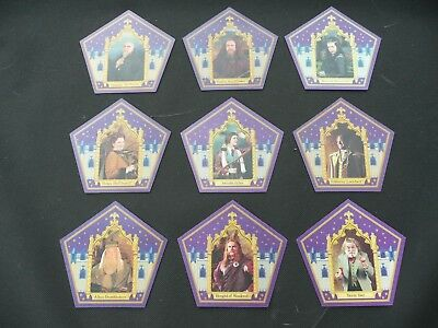 Harry Potter Chocolate Frog Wizard Cards - 9 Card Set