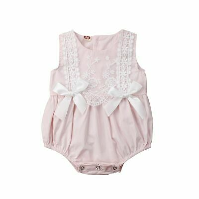 Newborn Baby Girls Clothing Ruffles Rompers Sleeveless Infants Summer Outfit New