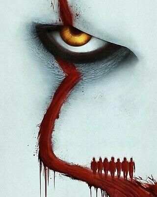 It Chapter 2 Pennywise Textless Movie Poster Film A4 A3 A2 A1 Print Cinema #2