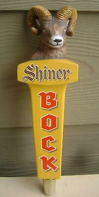 "Shiner Bock Beer Ram's Head Tap Handle ..11 1/2"" Tall  .. New Beauty in Box!!!"