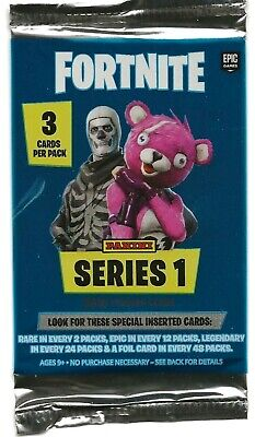 2019 Panini FORTNITE Trading Cards-3 Cards Per pack. NEW