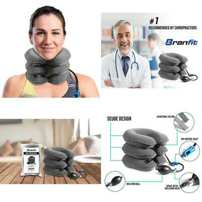 Cervical Neck Traction Device And Collar Brace By Branfit, Inflatable And Adjust