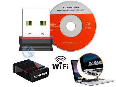 Mini Adattatore Usb Pc Wifi 300 Mbps Antenna Chiavetta Wireless Wi-Fi Elegance