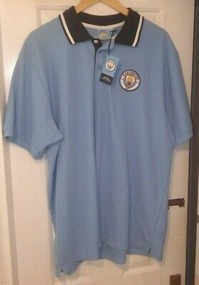 Manchester City Official Supporters Polo Shirt.  Size XXL.  BNWT.