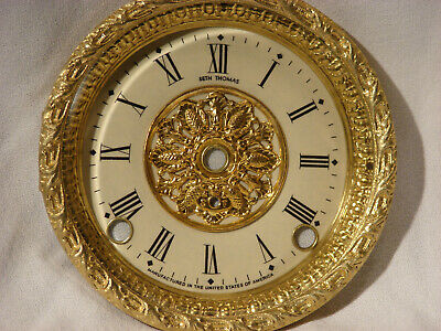 Antique Seth Thomas Clock Dial and Bezel and Beveled Glass