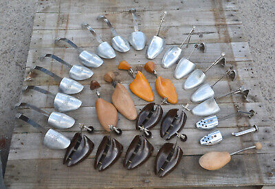 Vintage Metal, wooden old Shoe Trees Stretchers  J sears Randall etc - job lot