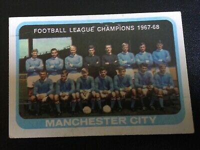 a & bc gum football cards 1968 yellow backs unmarked checklist Manchester City