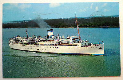ss Yarmouth . Cruises, Inc Ocean Liner Ship Sea Boat Queen Of Nassau Castle