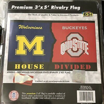 Fan Apparel Souvenirs House Divided Michigan Ohio State 3 X 5 Tailgating Flag 95553 Fan Apparel Souvenirs Sports Mem Cards Fan Shop