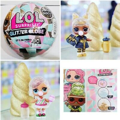 *IN HAND* 1 LOL Surprise Doll Winter Disco Series Glitter Globe Ball Holiday OMG