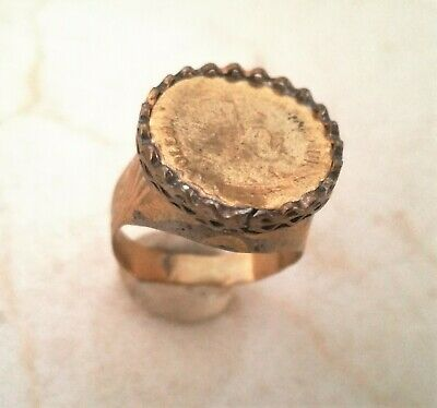 rare ancient  Romane bronze ring viking artifact bronze ring authenic Vintage