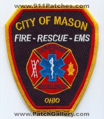 Mason Fire Department Patch Ohio OH