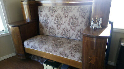 Antique Bench- Handcrafted Solid with Side Cabinets
