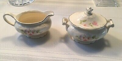 Homer Laughlin Virginia Rose Creamer and Sugar Bowl