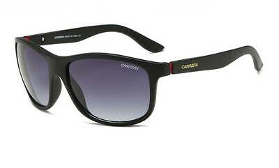 Carrera 61 807//NR Polished Black//Brown-Grey Wrap-Around Unisex Sports Sunglasses