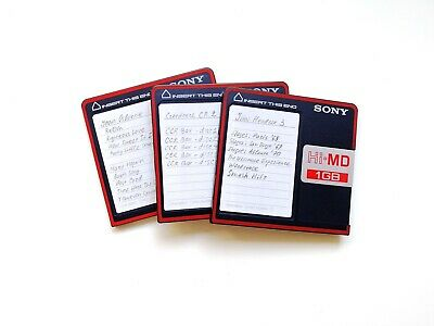 3 x Sony Hi-MD 1Gb recordable used disc