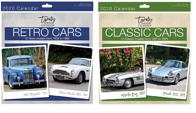 2020 Square Wall Calendar - Choice of Classic Cars or Retro Cars