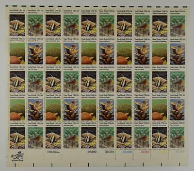 Us Scott 1827-1830 Sheet Of 50 Coral Reefs Stamps 15 Cent Face Mnh