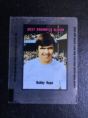 a & bc gum football transparency Bobby Hope West Bromwich Albion