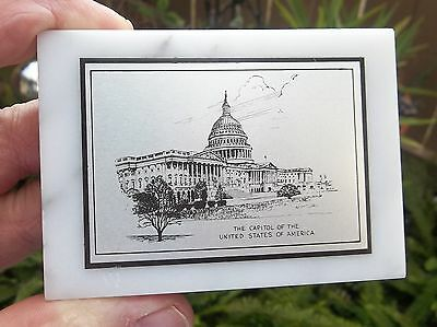 Vintage United States Capitol Marble Paperweight