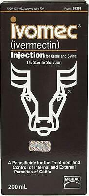 NEW! Ivomec 67299 Cattle and Swine (200 ml) ENGLISH PACKING
