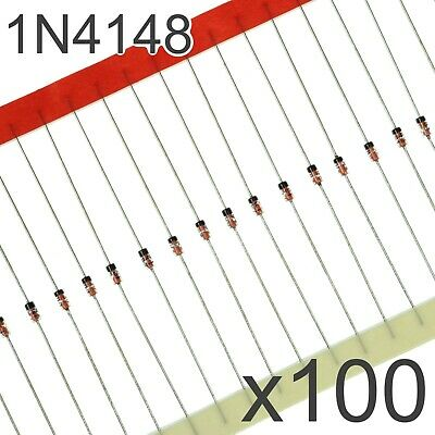 100x 1N4148 DO-35 Diode - Small Signal Fast Switching Diodes