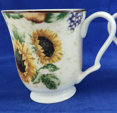 Noble Excellence NAPA VALLEY Sunflower Mugs Set of 2