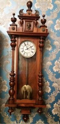 C19th Double Weight Vienna Wall Clock By RMS (140 cm high)