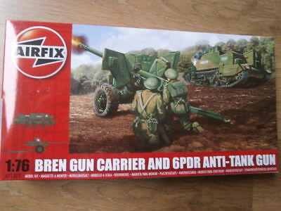 Airfix A01309 Bren Gun Carrier and 6pdr Anti-Tank Gun 1/76 Scale.