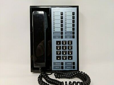 At&T Lucent Avaya Merlin Hfai-10 10 Button Business Phone Black Refurbished