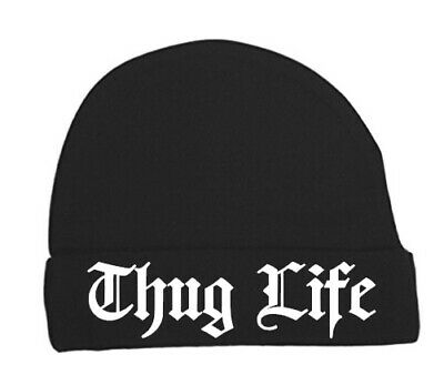 Baby beanie hat Thug life. funny,2 pac, cute, Alternative,0-3 months newborn