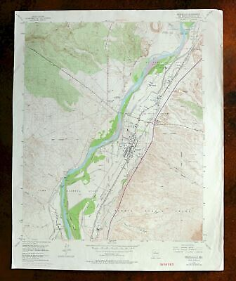 Bernalillo Sandia Village New Mexico Vintage Original USGS Topographic Map 1954