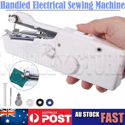 Portable Mini Handheld Cordless Sewing Machine Hand Held Stitch Home Clothes OZ