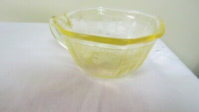 Vintage Anchor Hocking Depression Glass Princess Topaz Yellow 7 Ounce Cup